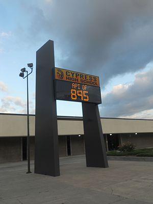 Cypress High School - Image: Cypress High School Billboard 2