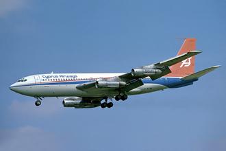 Boeing 720 - Cyprus Airways Boeing 720 arriving at London Heathrow Airport in August 1978