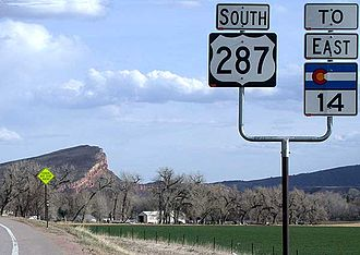 U.S. Route 287 - View south along U.S. Highway 287 in Larimer County, Colorado
