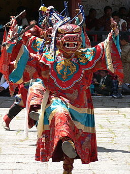 Dance of the Lord of Death and his Consort - Paro Tsechu 3