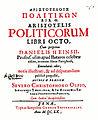 Daniël Heinsius (1580-1655) Aristotelis Politicorum.jpg
