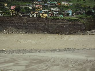 2013 North India floods - Effect of flood in Darchula district of Nepal.