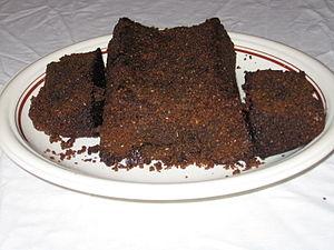 Parkin (cake) - Image: Darkparkin