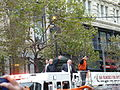 Dave Flemming, Duane Kuiper, Jon Miller, and Mike Krukow at the 2012 GIants victory parade.jpg