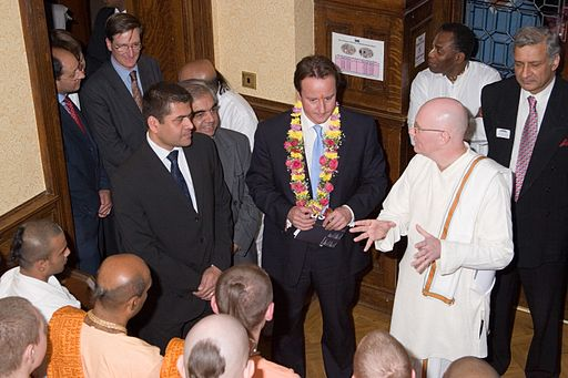 David Cameron visiting Bhaktivedanta Manor