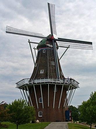 Windmill Island - Image: De Zwaan Windmill