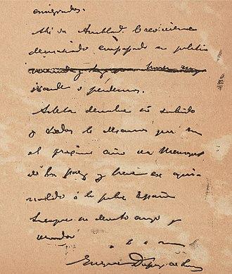 De Lôme Letter - The last page of the letter.