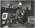 De schilder J.S.H. Kever in zijn atelier, Oosterpark 87, Amsterdam, RP-F-00-2587.jpg