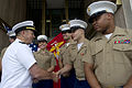 Defense.gov News Photo 100722-N-0696M-050 - Chairman of the Joint Chiefs of Staff Adm. Mike Mullen U.S. Navy greets U.S. Marines assigned to the embassy in New Delhi India on July 22.jpg