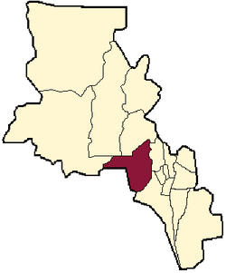 location of Pomán Department in Catamarca Province