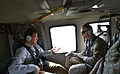 Deputy Secretary of Defense Ashton B. Carter, left, talks to Marine Corps Gen. Joseph Dunford, commander of the International Security Assistance Force, as they helicopter to a forward base in Afghanistan on Se 130915-D-NI589-163.jpg