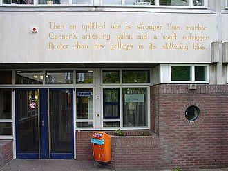 Derek Walcott - Wall poem Omeros in Leiden