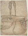 Design for a Bucket-Like Vessel with a Handle of Two Interlaced Captives, on a Body Adorned with a Scroll, Garland, and a Spout with a Satyr's Head. MET DP809939.jpg