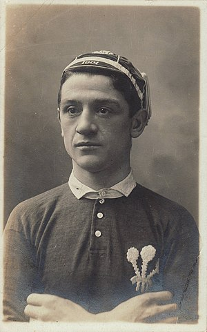 Dicky Owen - Owen in Welsh jersey (1905)