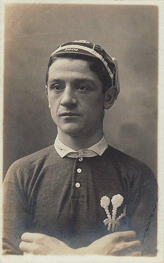 Dicky Owen - Owen in Welsh jersey (1905)