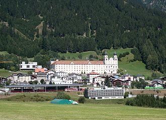Disentis/Mustér railway station - Image: Disentis Kloster Bahnhof