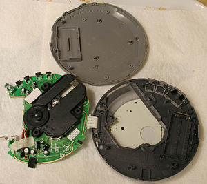 Portable CD player - A Philips portable CD player disassembled