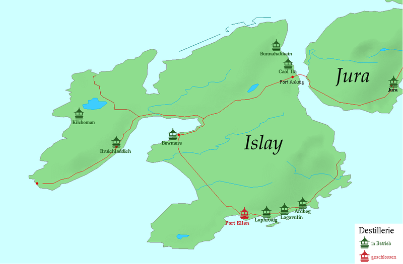 Islay Whisky Map