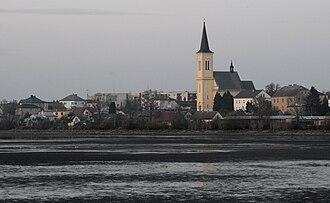 Dolní Benešov - Dolní Benešov over the Nezmar pond