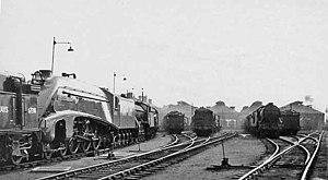 Doncaster Carr rail depot - Image: Doncaster Locomotive Depot 2071525 2c 425b 2a