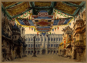 Le duc d'Albe - Set design for the 1882 premiere