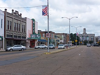 National Register of Historic Places listings in Acadia Parish, Louisiana - Image: Downtown Crowley
