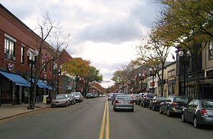 Downtown Melrose - Downtown Melrose seen from the intersection of Upham and Main Streets facing south