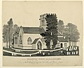 Drawing, Oddington Church Yard, Gloucestershire, North West View, 1843 (CH 18604891).jpg