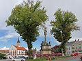 Dreifaltigkeitssäule und Rathaus in Waidhofen an der Thaya 2014.jpg
