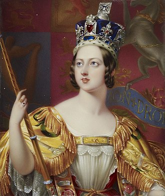 1838 Coronation Honours - Coronation portrait of Queen Victoria