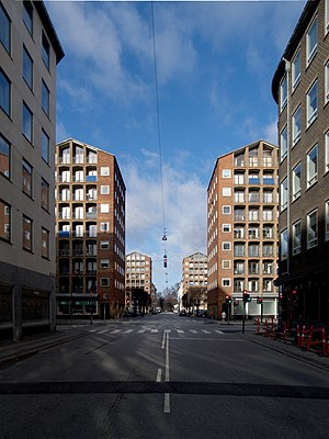 Dronningens Tværgade - The intersection with Borgergade followed by Dronningegården
