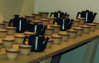 Stoke-on-Trent - Colorado Bouillons Regina and teapots, vitrified tableware by Dudson Brothers Ltd.