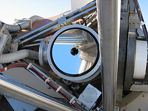 Dutch Open Telescope - Close-up of the DOT mirror