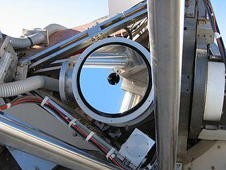 Dutch Open Telescope - Close-up of the DOT mirror