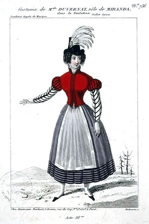 La tentation - Image: Duvernay as Miranda in Act 3 of 'La tentation' Maleuvre Gallica