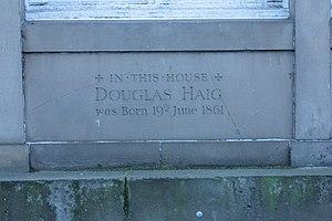 Douglas Haig, 1st Earl Haig - Plaque marking Earl Haig's birthplace, Charlotte Square, Edinburgh