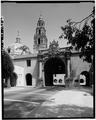 ENTRANCE PORTAL - Balboa Park, California Tower, Balboa Park, El Prado Area, San Diego, San Diego County, CA HABS CAL,37-SANDI,16-A-1.tif