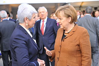 Jadranka Kosor - Jadranka Kosor with her colleague, the German Chancellor Angela Merkel.