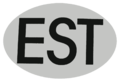 EST international vehicle registration oval.png