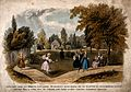 Earl's Court House, London; the gardens with several women, Wellcome V0013586.jpg