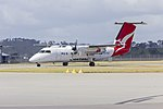 Eastern Australia Airlines (VH-TQG) de Havilland Canada DHC-8-201 taxiing at Wagga Wagga Airport.jpg