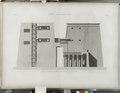 Edfou (Idfû) (Apollinopolis Magna). Coupe et élévation intérieure du pylône du Grand Temple (NYPL b14212718-1267881).tiff
