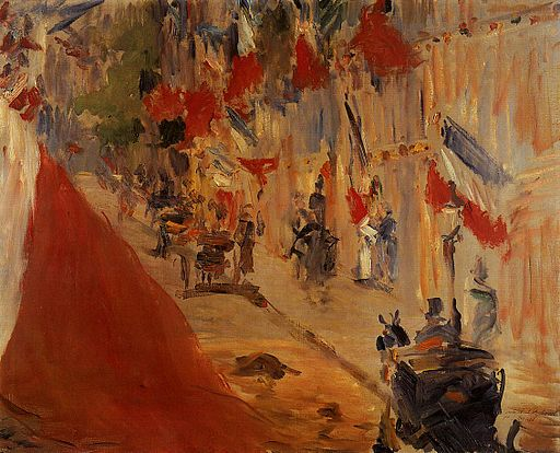 """""""The Rue Mosnier Dressed with Flags"""" by Édouard Manet"""