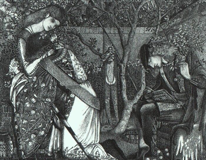 Edward Burne-Jones The Knights Farewell