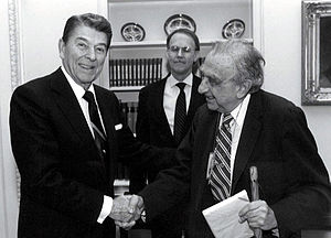 Teller became a major lobbying force of the Strategic Defense Initiative to President Ronald Reagan in the 1980s.