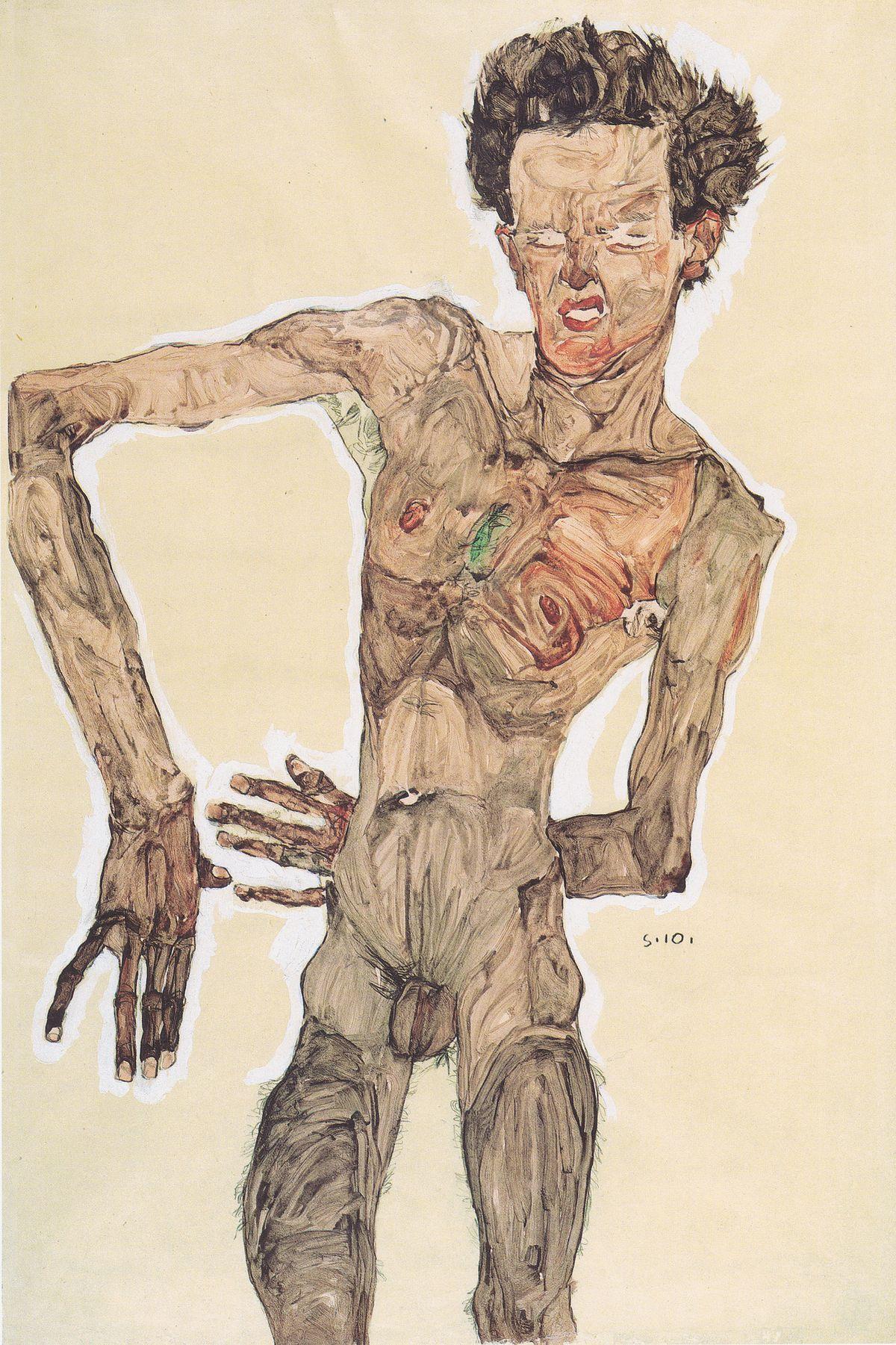 https://upload.wikimedia.org/wikipedia/commons/thumb/a/aa/Egon_Schiele_-_Grimassierendes_Aktselbstbildnis_-_1910.jpeg/1200px-Egon_Schiele_-_Grimassierendes_Aktselbstbildnis_-_1910.jpeg