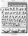 Egypt east wall of tomb 2 at Beni Hasan. Wellcome M0006213.jpg