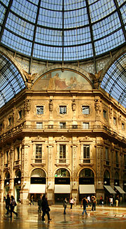 Galleria Vittorio Emanuele II from inside the arcade