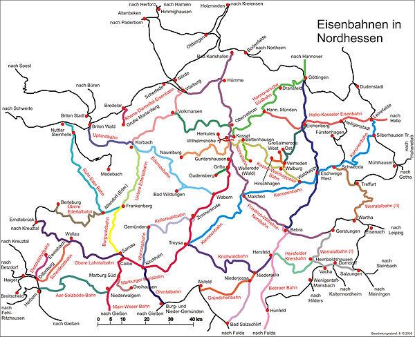 Eisenbahnen In Nordhessen Wikipedia