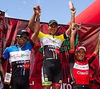 El podio etapa 10 Vuelta a Chiriquí 2014.jpg